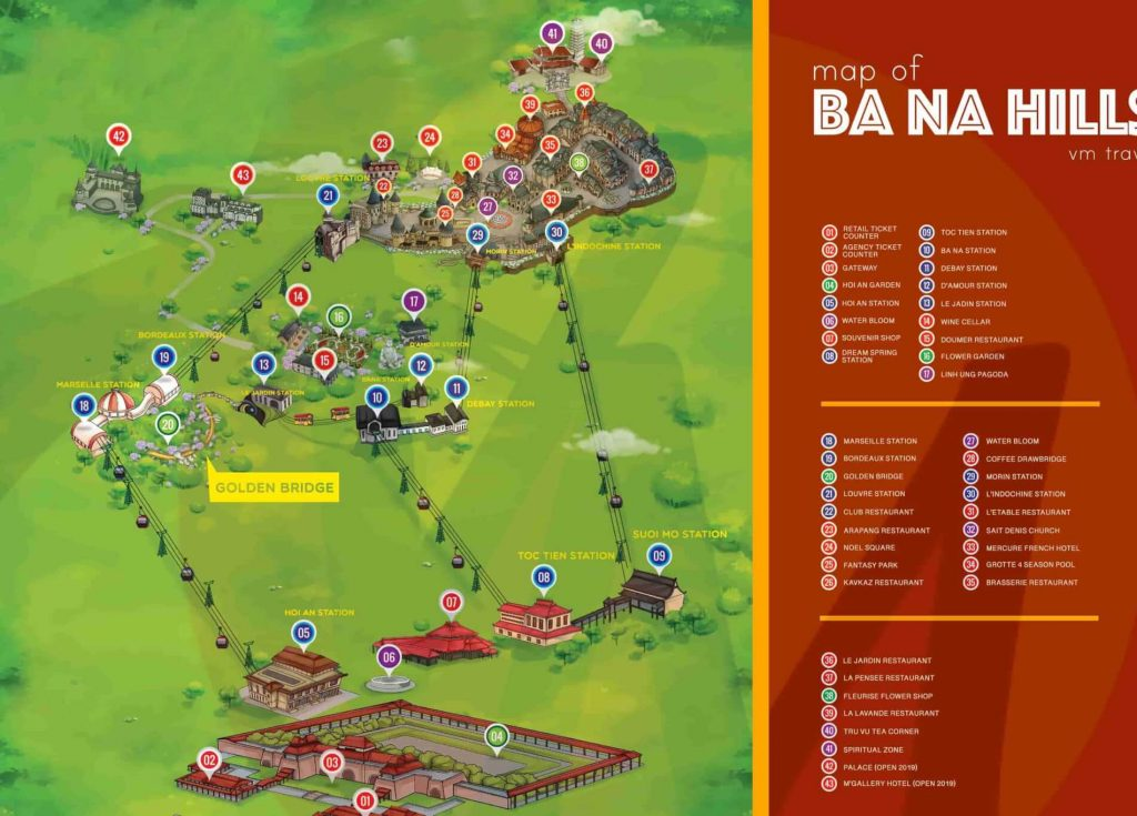 Bana Hills Maps 2020