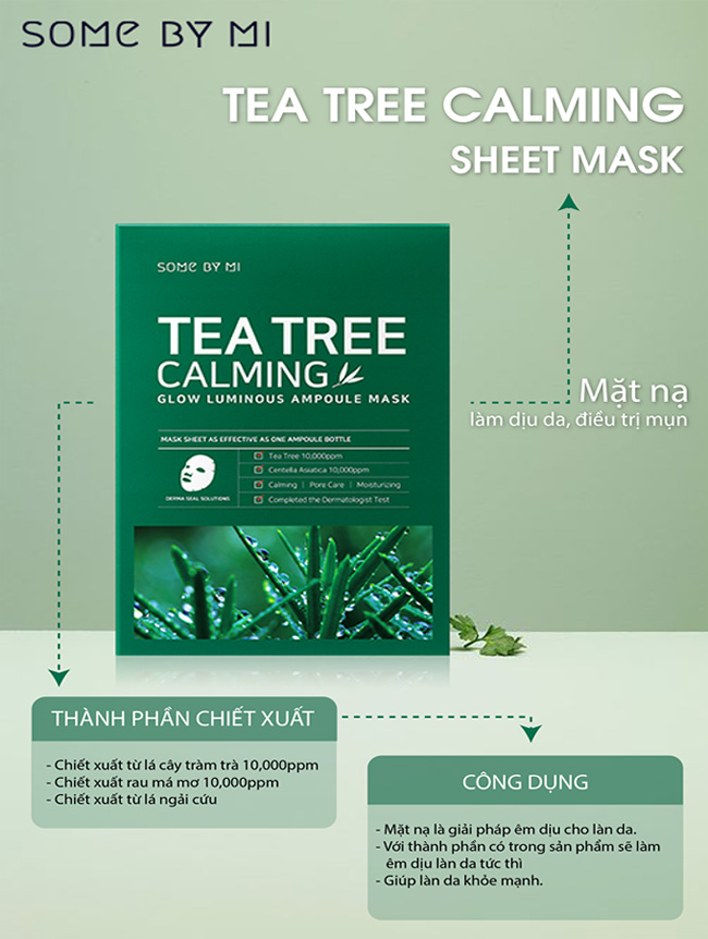 review mặt nạ tea tree calming some by mi