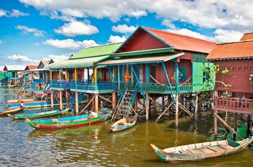 Kampong Phluk floating village during the rainy season